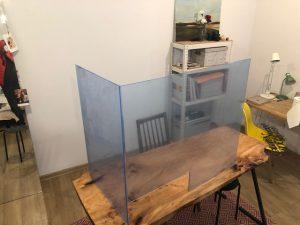 osłona przezroczysta na biurko