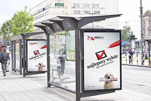 tablica kampanii reklamowej dla gazety Nowy Łowiczanin