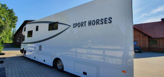 oklejenie pojazdu do przewozu koni